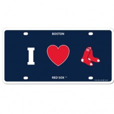 I Love Red Sox License Plate