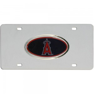 Angels Stainless Steel California License Plate
