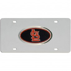 St. Louis Cardinals Oval Logo Stainless Steel License Plate