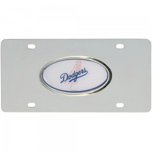 Dodgers Steel California License Plate