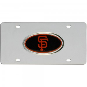 SF Giants Steel California License Plate