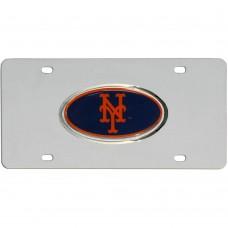 Mets Steel License Plate