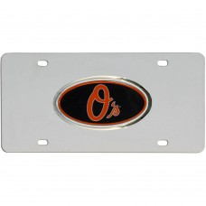 Orioles Stainless Steel License Plate