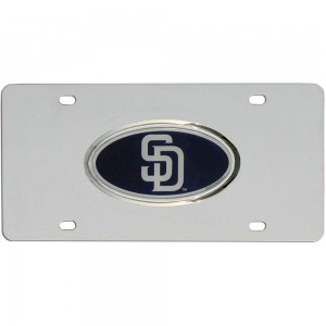Padres Stainless Steel California License Plate