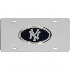 Yankees Stainless Steel License Plate