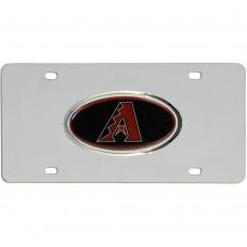 Diamondbacks Stainless Steel License Plate