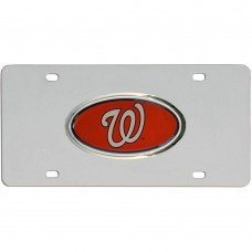 Nationals Stainless Steel License Plate