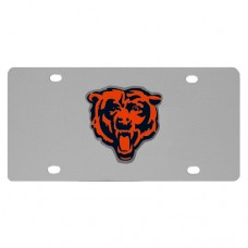 Chicago Bears Stainless Steel License Plate