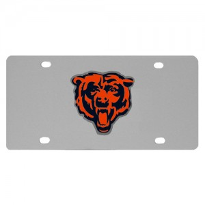 Chicago Bears Stainless Steel Illinois License Plate