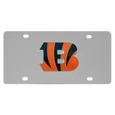 Cincinnati Bengals Stainless Steel License Plate