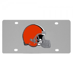 Cleveland Browns Stainless Steel Ohio License Plate
