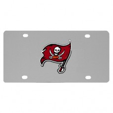 Tampa Bay Buccaneers Stainless Steel License Plate
