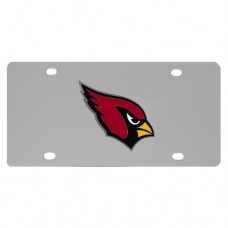 Arizona Cardinals Stainless Steel License Plate