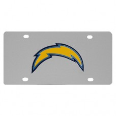 San Diego Chargers Stainless Steel License Plate