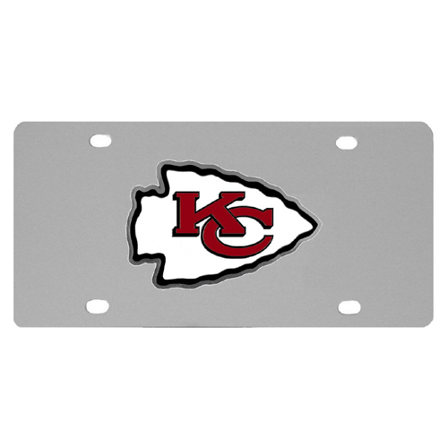 Kansas City Chiefs Stainless Steel Kansas License Plates