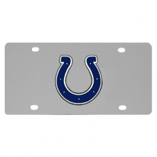 Indianapolis Colts Stainless Steel License Plate