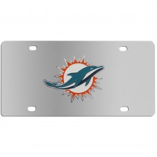 Miami Dolphins Stainless Steel Florida License Plates