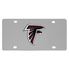 Atlanta Falcons Oval Logo Stainless Steel License Plate