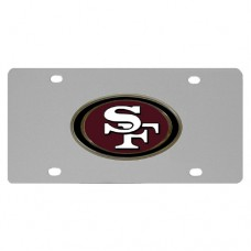 San Francisco 49ers Stainless Steel License Plate