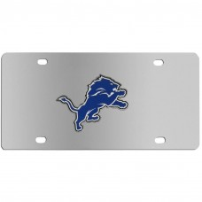 Detroit Lions Stainless Steel License Plate