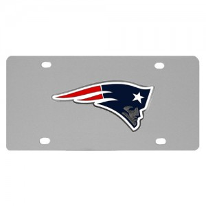 New England Patriots Stainless Steel Massachusetts License Plates