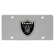 Oakland Raiders Stainless Steel License Plate