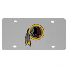 washington redskins stainless steel license plate