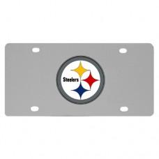 Pittsburgh Steelers Stainless Steel License Plate