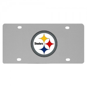 Pittsburgh Steelers Stainless Steel Pennsylvania License Plates