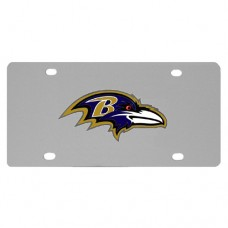 Baltimore Ravens Stainless Steel License Plate