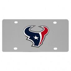 Houston Texans Stainless Steel License Plate