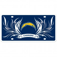 Chargers Flame License Plate