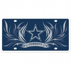 Cowboys Flame License Plate