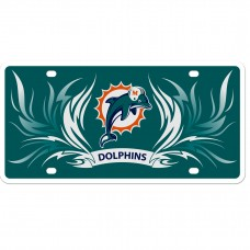 Dolphins Flame License Plate