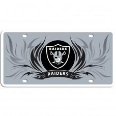 Raiders Flame License Plate