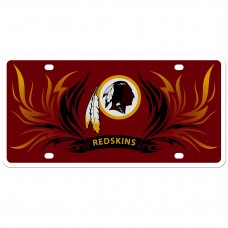 Redskins Flame License Plate