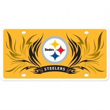 Steelers Flame Licesne Plate