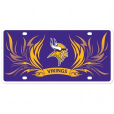 Vikings Flame License Plate