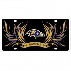 Ravens Flame License Plate