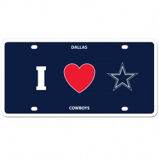 I Love Cowboys License Plate