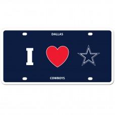 I Love Cowboys License Plate
