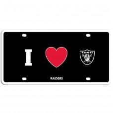 Raiders Heart License Plate