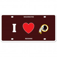 i love redskins license plate