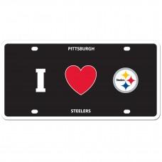I Love Steelers License Plate