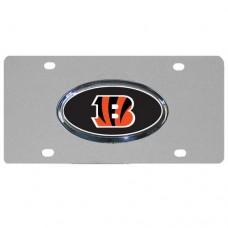 Cincinnati Bengals Oval Logo Stainless Steel License Plate