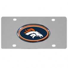 Denver Broncos Stainless Steel Colorado License Plate
