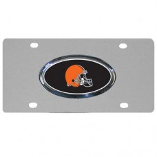 Cleveland Browns Oval Logo Stainless Steel License Plate