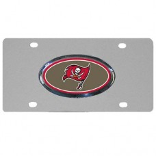 Tampa Bay Buccaneers Oval Logo Stainless Steel License Plate
