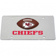 Kansas City Chiefs Mirrored License Plate