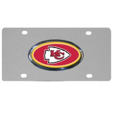 Kansas City Chiefs Oval Logo Stainless Steel License Plate